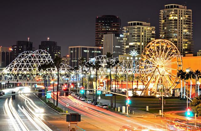 Noite de compras em Long Beach