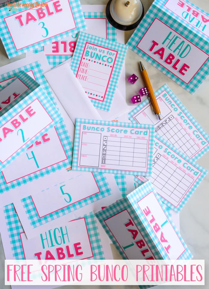 Free Spring Bunco Kit Printables