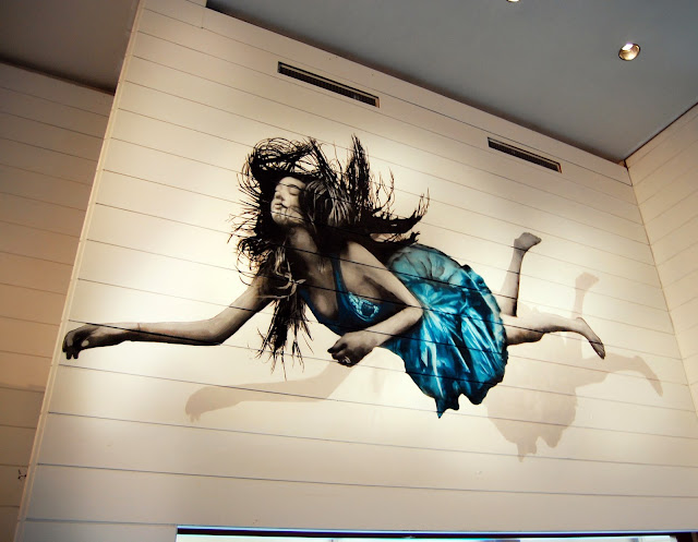 """""""All We Are Is Falling"""" New Indoor Mural By British Street Artist Snik In Amsterdam, Netherlands. 1"""
