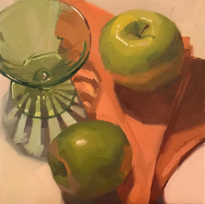 "sarah sedwick ""Radiate"" oil painting still life"