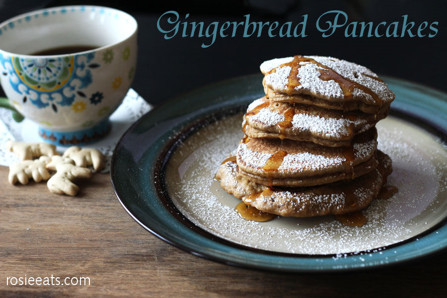 Gingerbread Pancakes from Rosie Eats