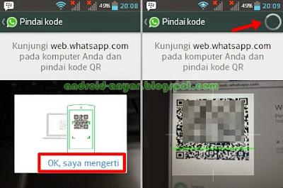 Cara atasi tidak bisa memindai QR Code WhatsApp Web tidak ada tombol Ok, saya mengerti