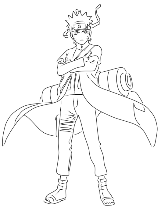 Gambar Gambar Bunga Kartun Unik 7 Mewarnai Naruto Sasuke