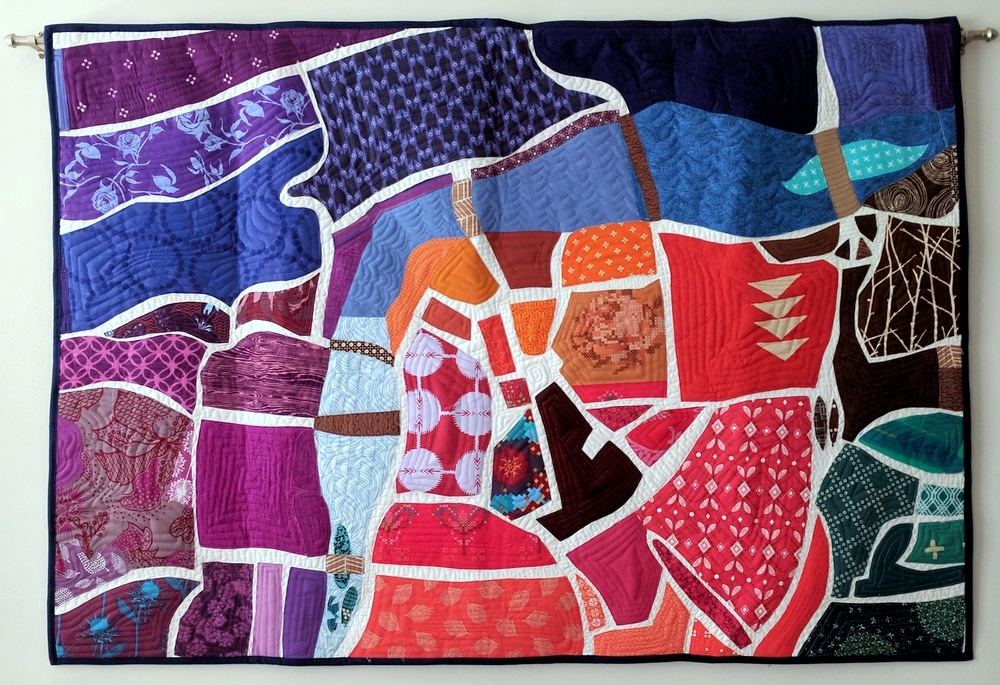 Quilty Habit: Map of Prague: A Finished Quilt