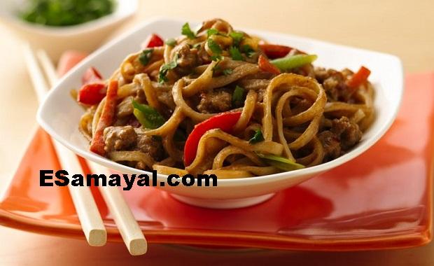 செஸ்வான் சிக்கன் நூடுல்ஸ் செய்முறை / Chesvan Chicken Noodles Recipe !