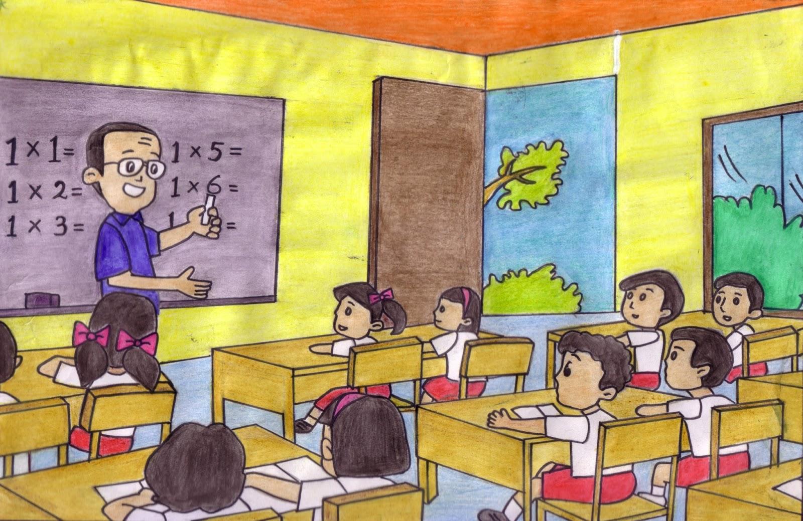 Mirzan Blog S 40 Koleski Terbaik Gambar Kartun Anaj K Belajar Dalam Kelas