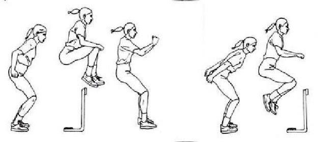 multiple hop and jumps dengan barrier hop