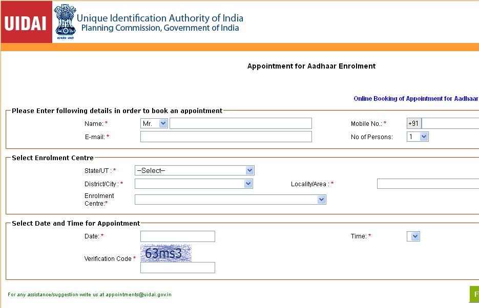 aadhar card enrollment dates in bangalore dating