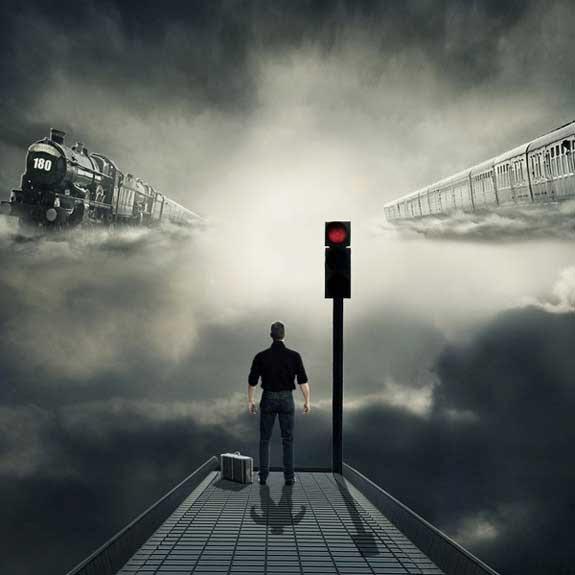 Photo Manipulate a Surreal Sky Station Scene