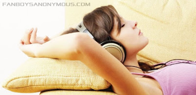 Hot Girl Headphones Wallpaper
