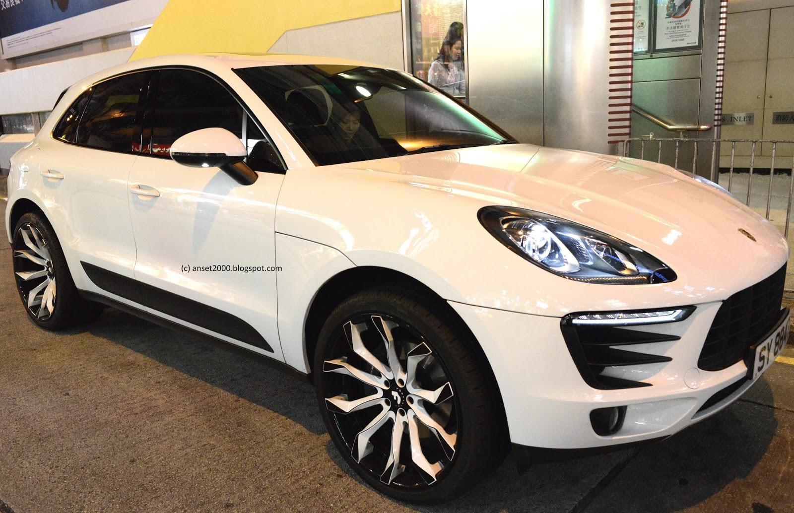 Hong Kong Car Spotting Porsche Macan Tuned With Huge Black White