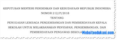 Keputusan Mendikbud Nomor 212 Tahun 2018