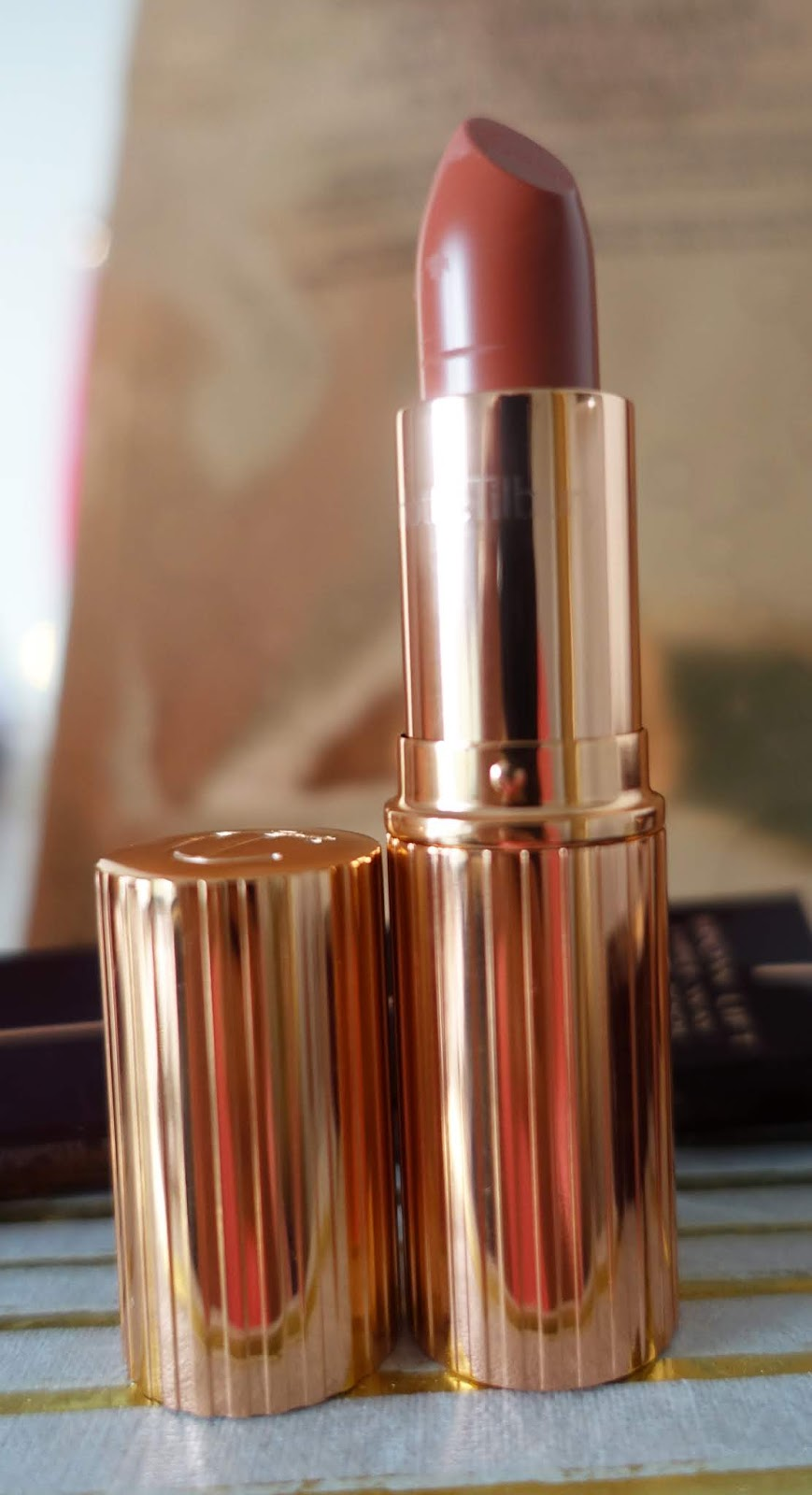 The lipstick used buy Charlotte Tilbury to create her Golden Goddess look, Stoned Rose,