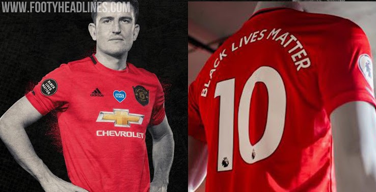 No Blm Nhs Badges Manchester United Black Lives Matter Kit Printing Launched Proceeds To Be Donated Footy Headlines