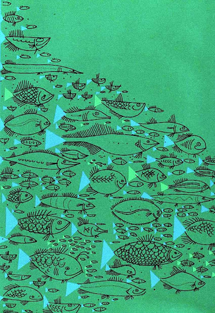 Ed Emberly 1961, a school of fish