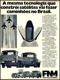 propaganda caminhões FNM - 1975, FNM e Fiat, FNM anos 70, Fiat década de 70, caminhões antigos, caminhão FNM, Oswaldo Hernandez,