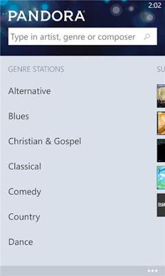 Download Pandora 1.3.0.0 XAP For Windows Phone
