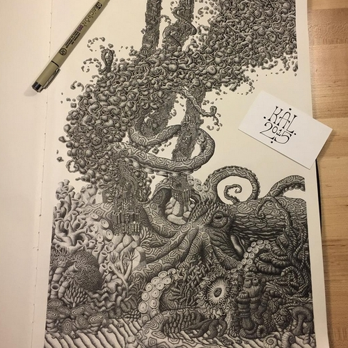 01-Deep-Water-Disaster-Kyle-Leonard-Miniature-Drawings-of-Human-and-Environment-Struggle-www-designstack-co