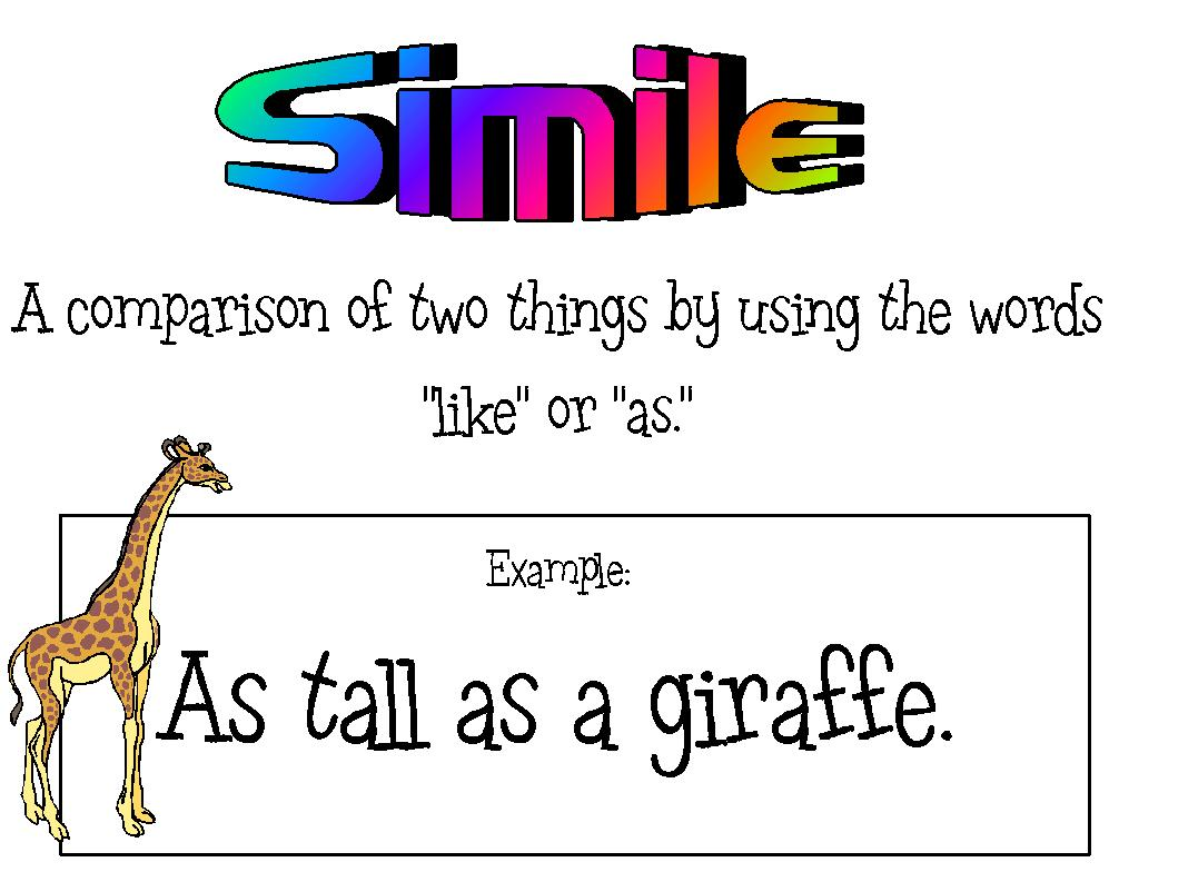 simile examples in literature