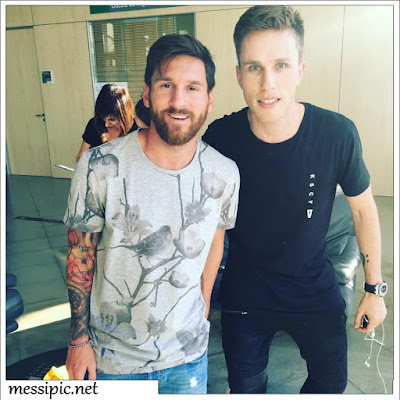 messi with Nicky Romero