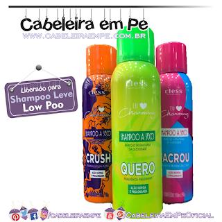 Novos Shampoos A Seco Charming (Crush, Lacrou, Quero) - Cless (Low Poo)