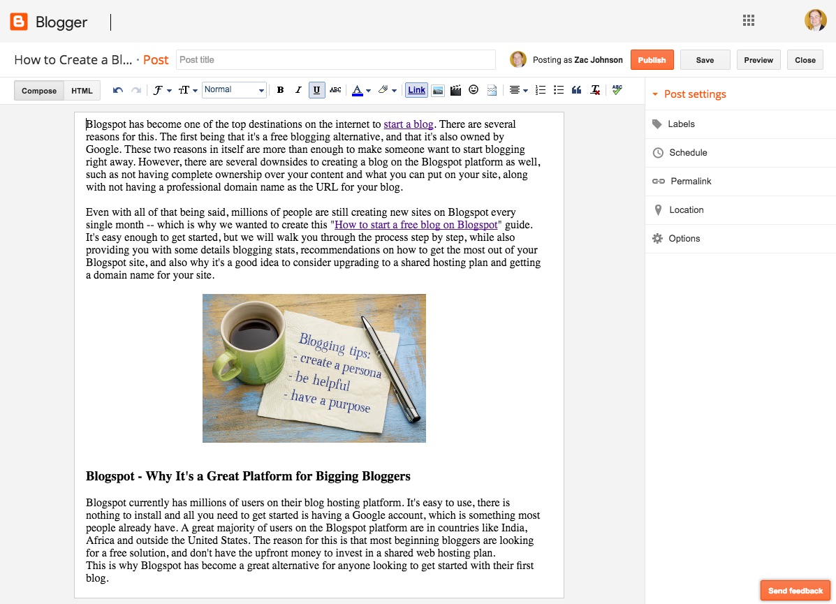 How To Start A Free Blog On Blogspot Blogger Platform