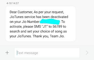 How To Deactivate Jio Caller Tune