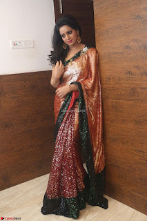 Udaya Bhanu lookssizzling in a Saree Choli at Gautam Nanda music launchi ~ Exclusive Celebrities Galleries 100.JPG