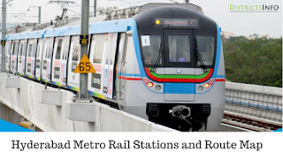 Hyderabad Metro Rail Stations and Route Map
