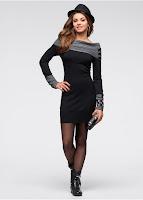 Rochie tricotată foarte elegantă (bonprix)