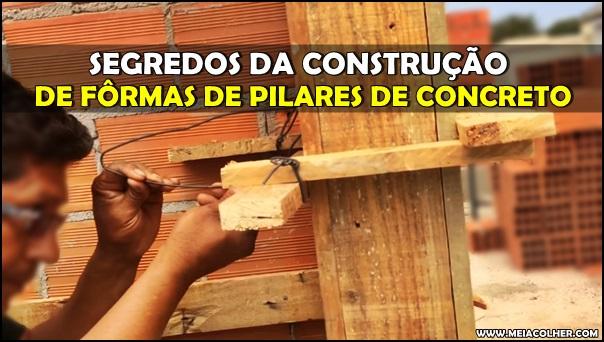 construção de fôrmas depilares de concreto