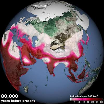 Mudanças climaticas levaram primeiros humanos para fora da África