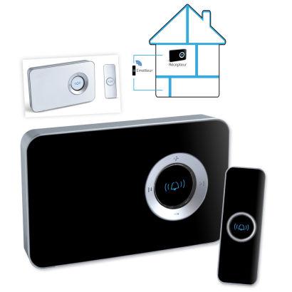 envivo sonnette de porte sans fil avec fonction mp3 aldi avis sur les produits. Black Bedroom Furniture Sets. Home Design Ideas