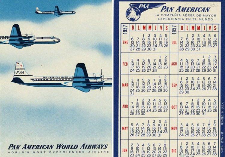 Uçak pistten kalktıktan sonra yerde 1955 yılına ait bir Pan Amerikan cep takvimi bulundu.