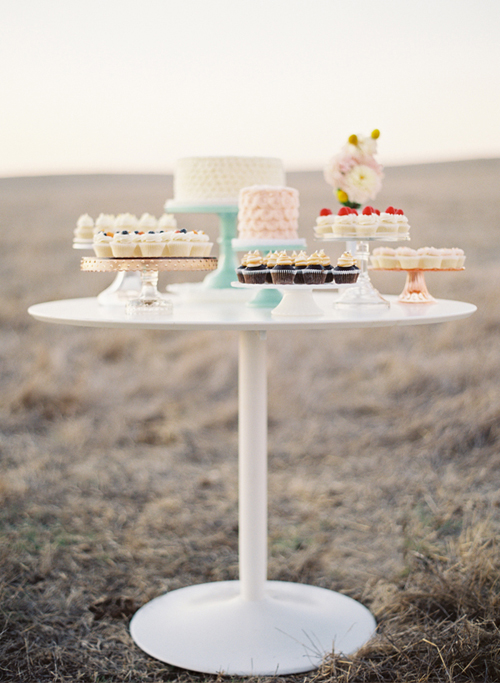 Cakes+displayed+ona++table Coral Caravan Enjoy Cupcakes Styling | Vintage Styling Inspiration