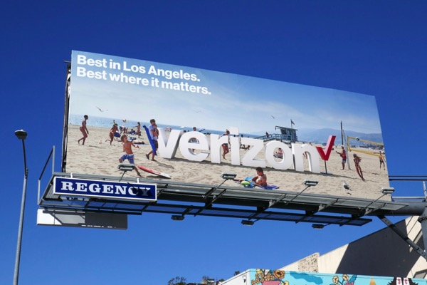 Verizon Best in LA where it matters beach billboard