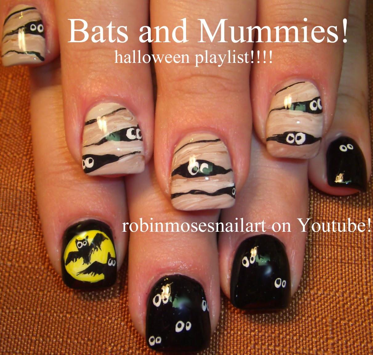 Nail Art By Robin Moses Owl Nails Halloween Nails Cute