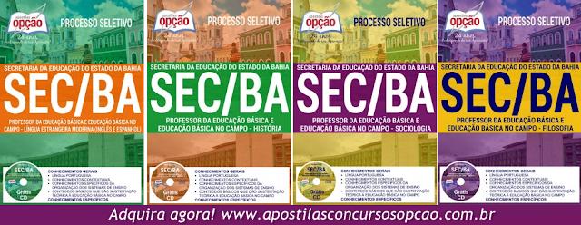 Apostila Concurso SEC BA 2017: Secretaria da Educação da Bahia