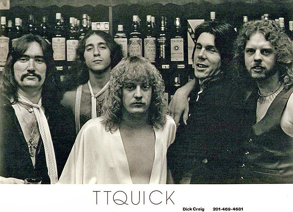 TT Quick original line up... L to R... David Henry(guitar) Mark Tornillo(muthafuckin' vocals!) John Mollima(guitar) Dick Craig(drums) Curt Benson(bass)