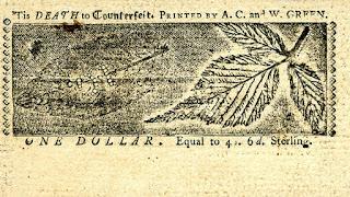 في منتصف القرن الثامن عشر بدأت 13 مستعمرة بريطانية في أمريكا الشمالية بطباعة أوراقها النقدية الخاصة بهدف الاستقلال عن الإنكليز.