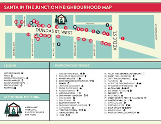 Santa in the Junction Winter Market 2016 Neighbourhood Map