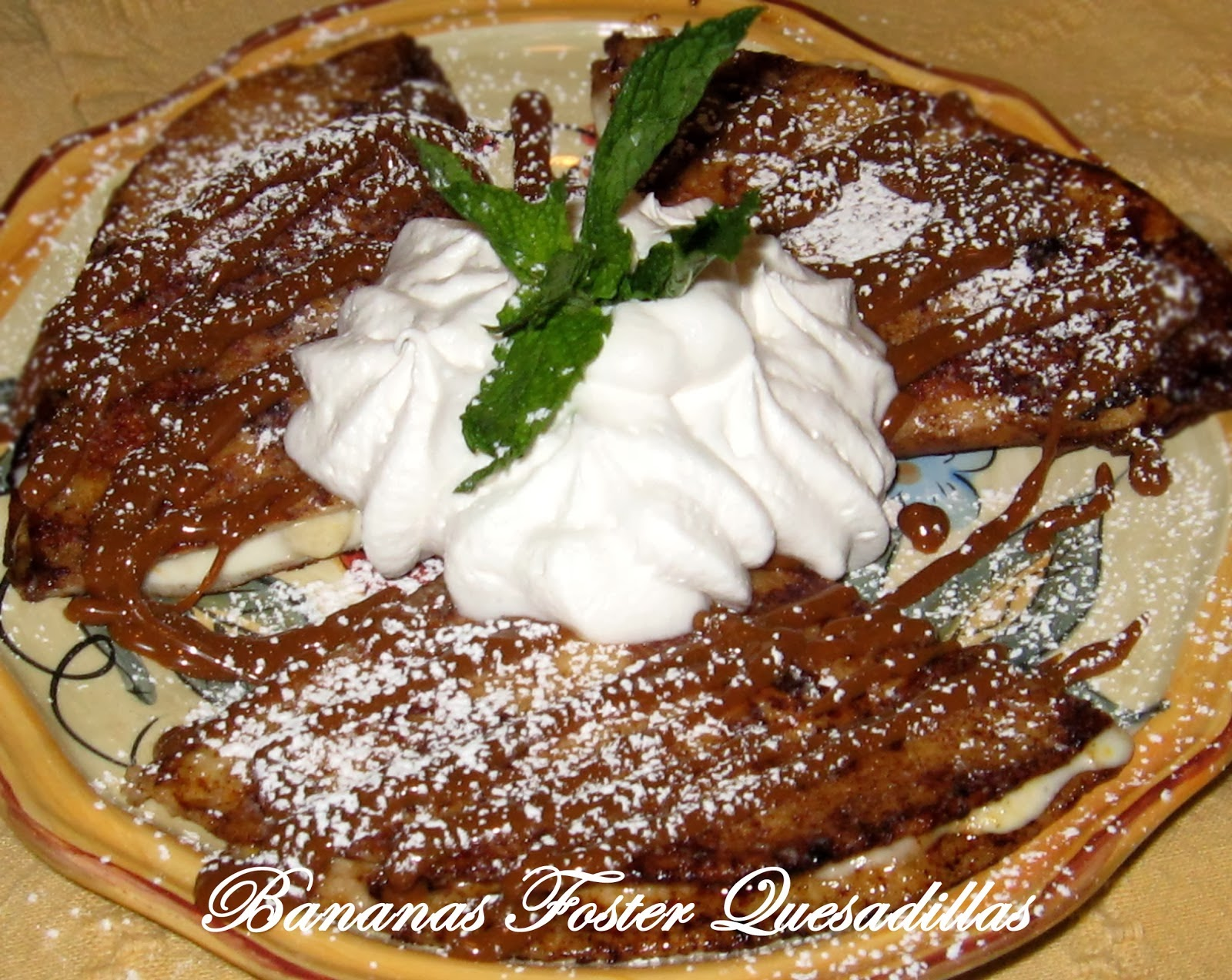 Bananas Foster Quesadilla Recipe image
