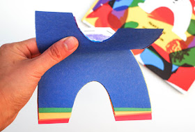 How to make a rainbow notebook with kids