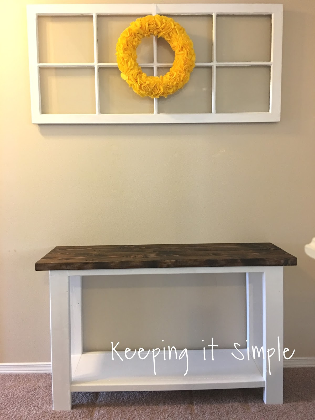 How To Build A Sofa Table For Only 30 Keeping It Simple