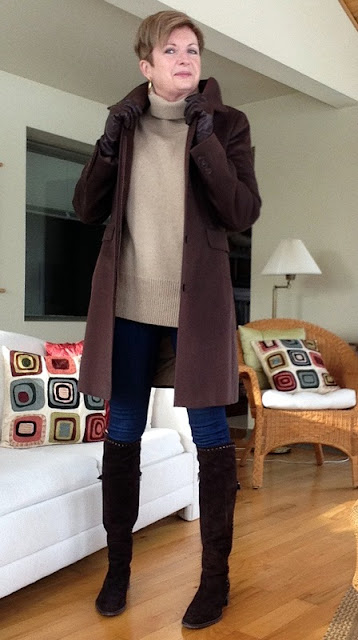 simple and polished in Stuart Weitzman boots