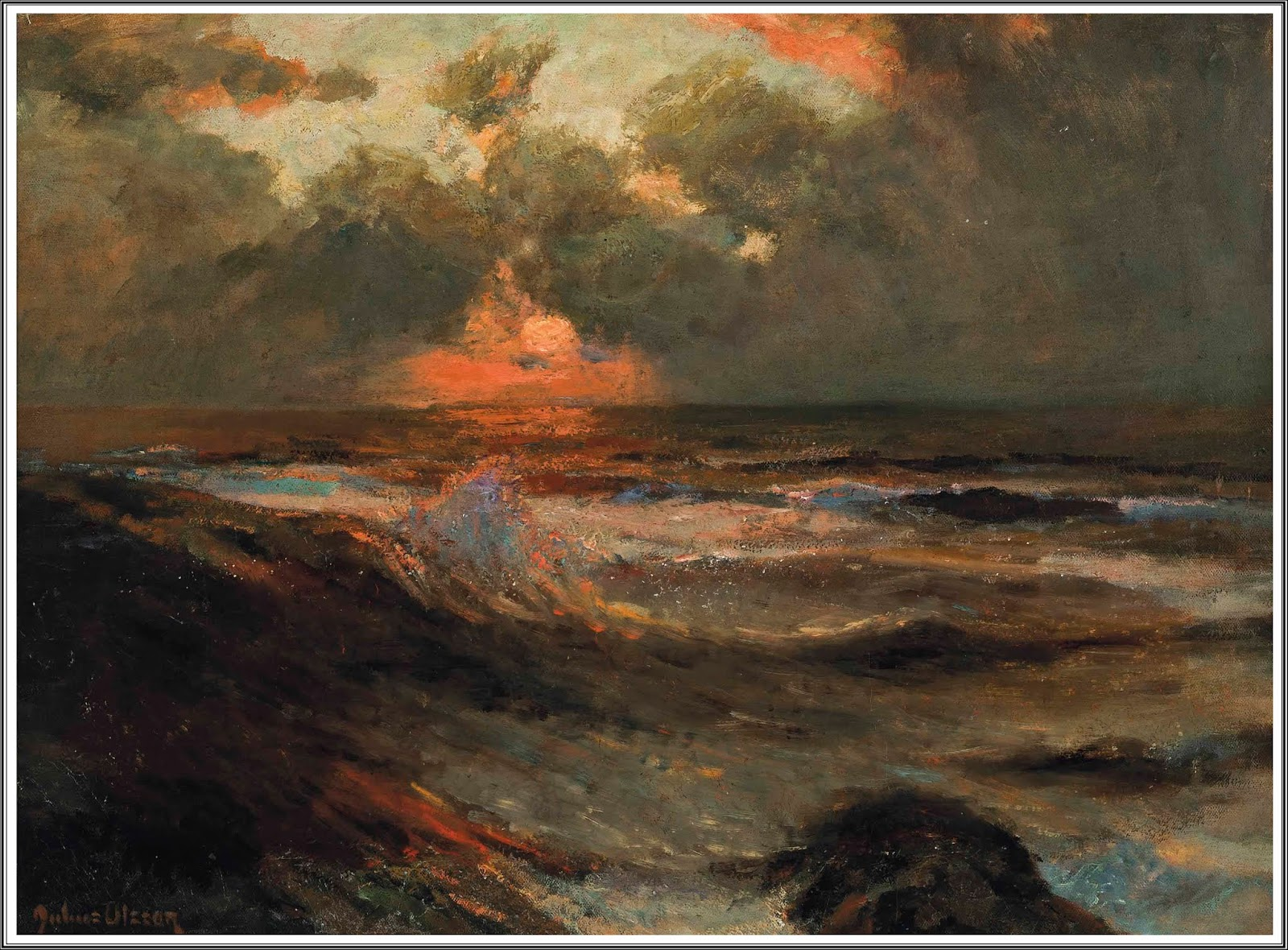 Le Prince Lointain  Julius Olsson (1864-1942), Red Sky at Night. f59922c2d20a