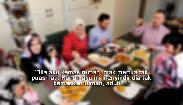 keluarga mertua, gambar keluarga makan, pening mertua, tips baik dengan mertua