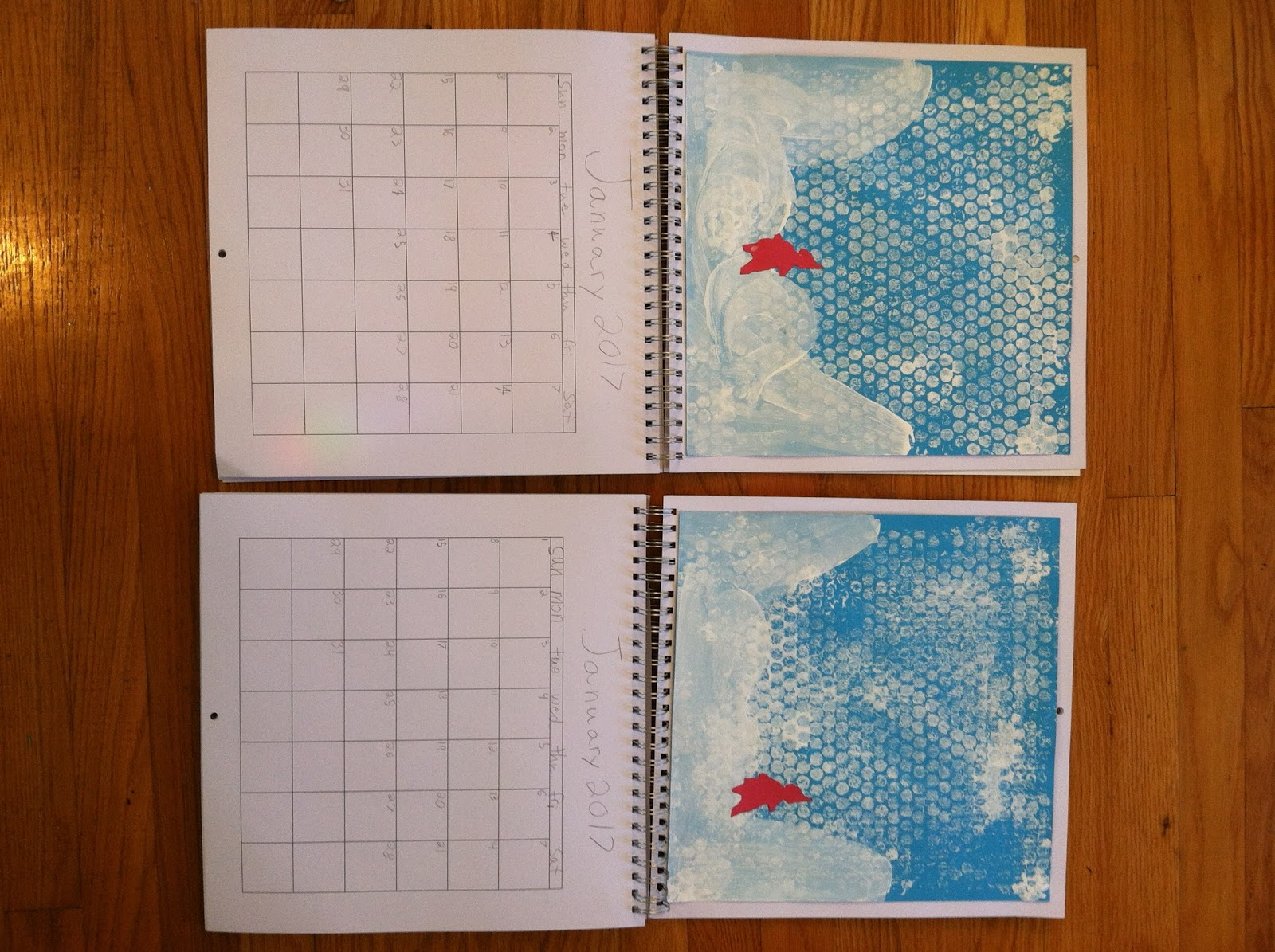 Switzerite Notes On Homemade Calendar Activity