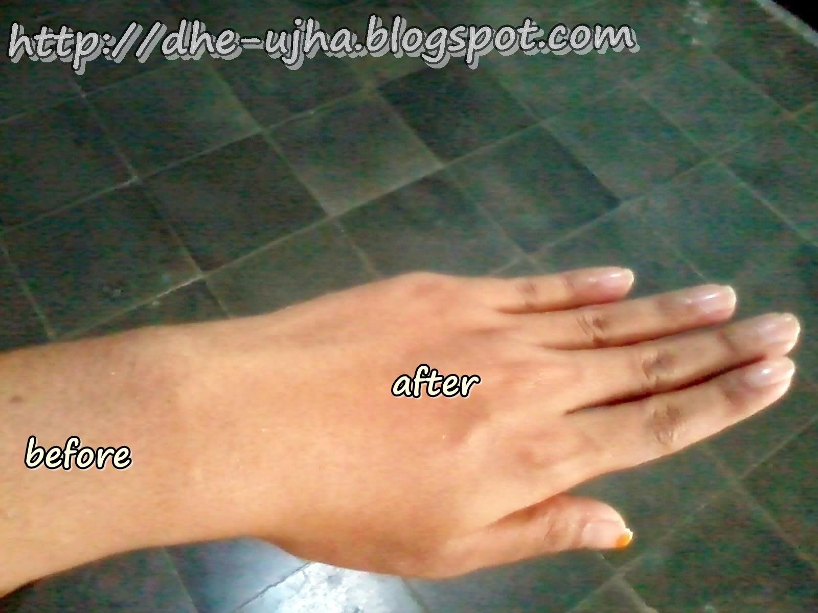 before dan after pemakaian lulur herborist lulur traditional bali