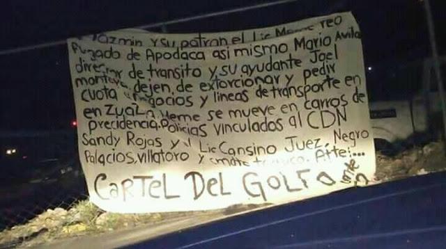NARCOMANTA DEL CÁTEL DEL GOLFO AMENAZANTE